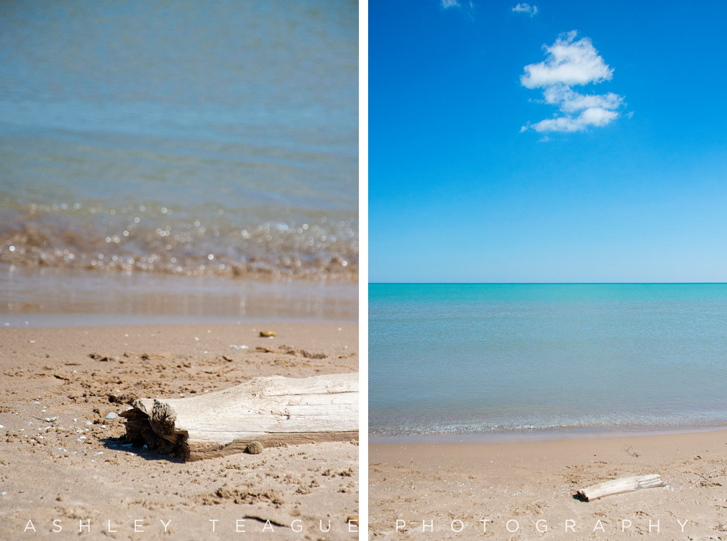 Foster Beach and Lake Michigan in Chicago, Illinois