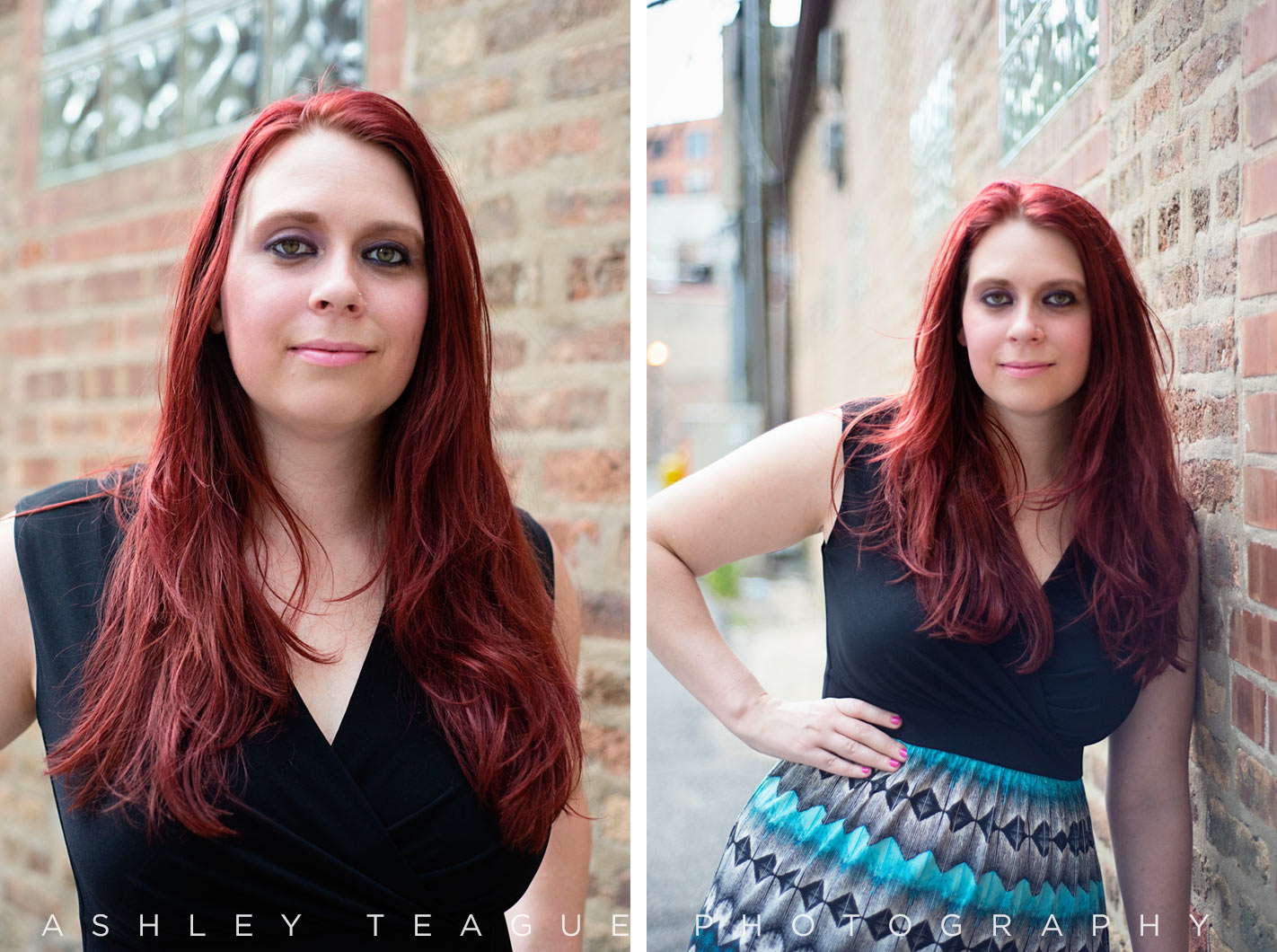Chicago Headshot Photography in City Alley