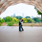 Chicago Lincoln Park Arch Engagement