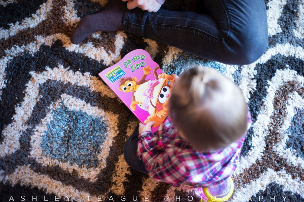 Baby Girl Reading Childrens Book