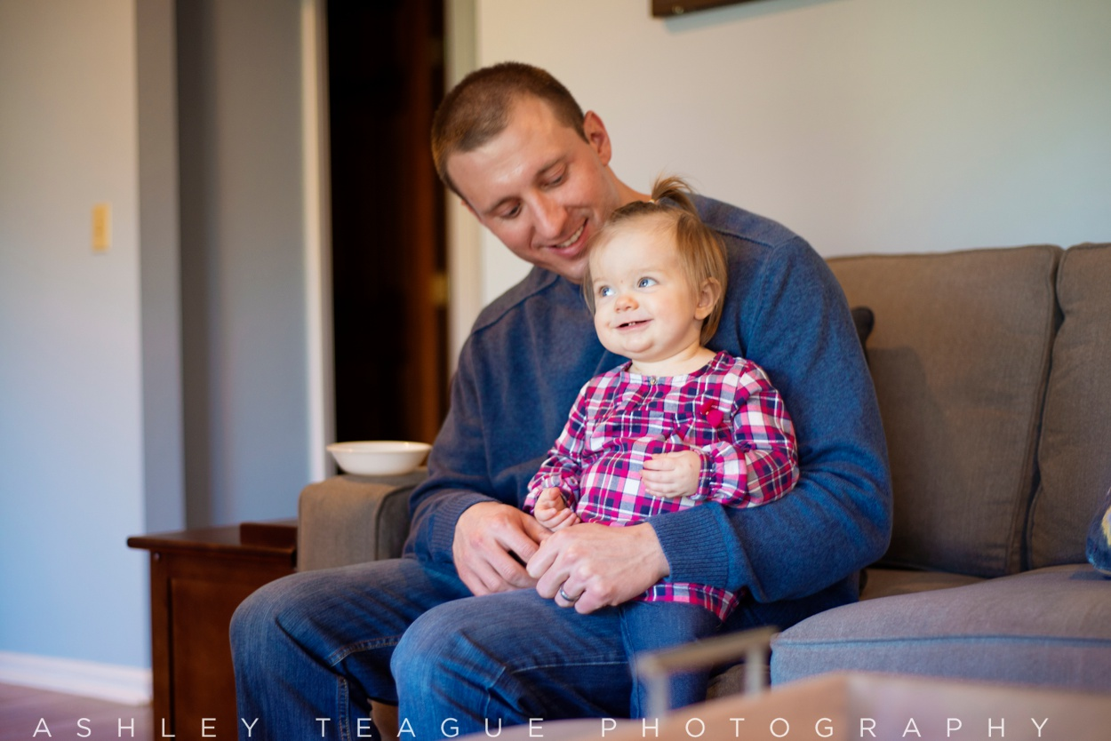 One Year Old Girl and Father