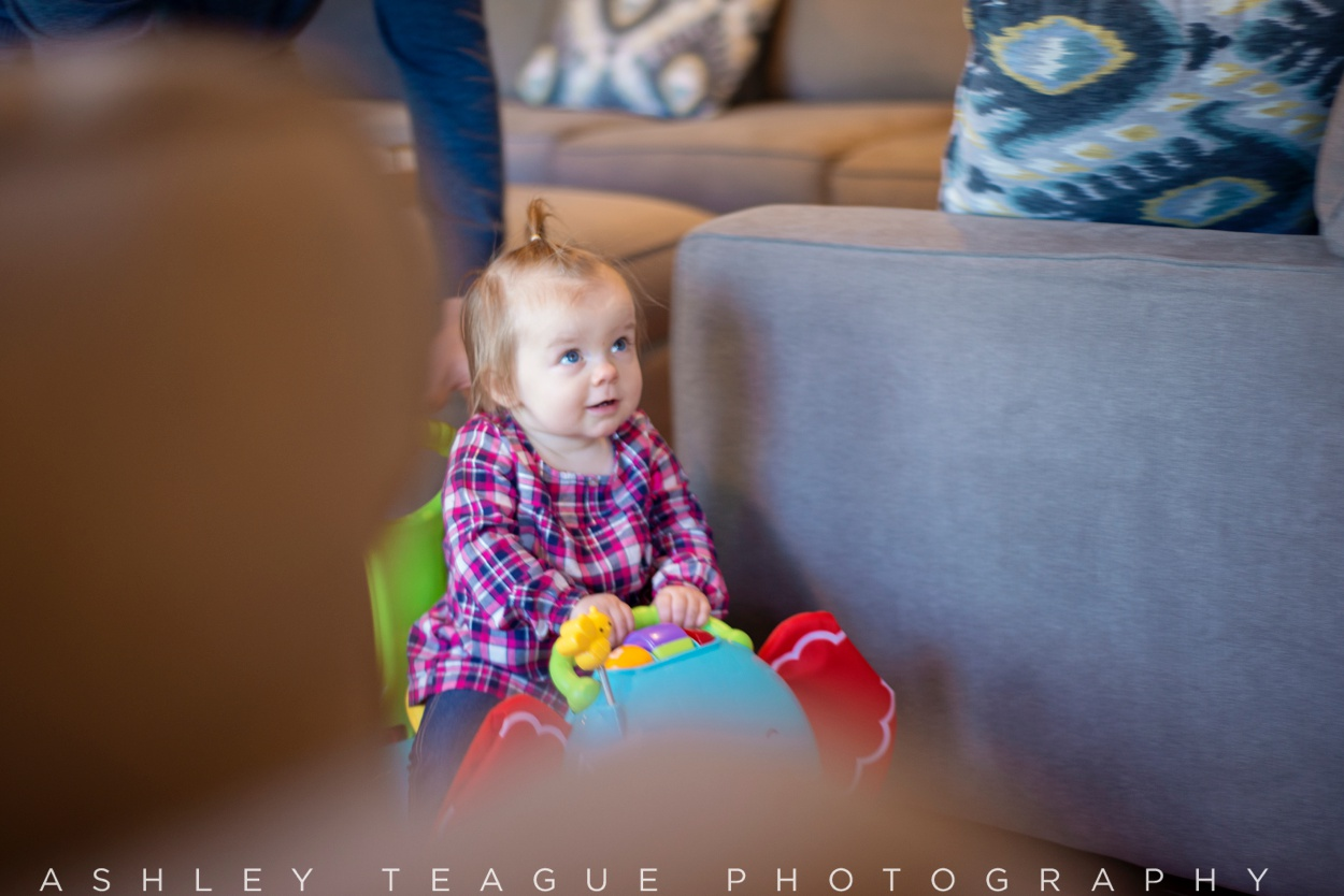 One Year Old Girl in Push Elephant