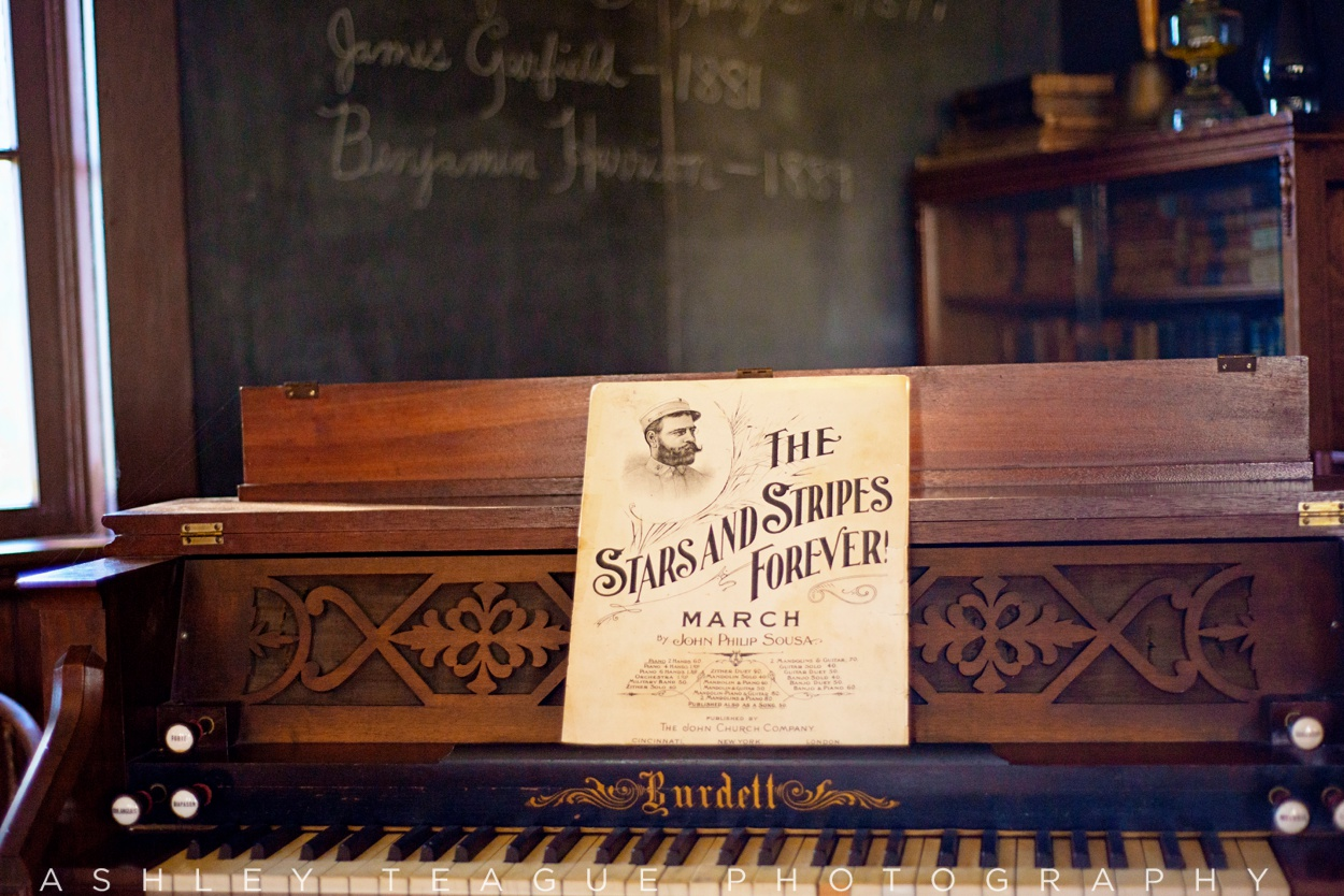 Burdell Piano and Music Sheet