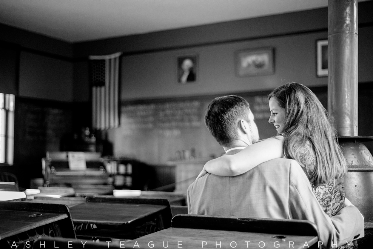 Couple at the Carillon Park SchoolHouse