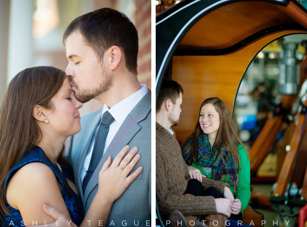 Engagment Picture sat Carillon Park Merry Go Round