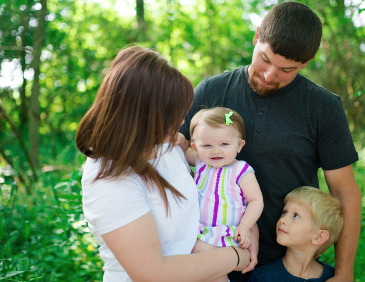 Caudell Family - Family Lifestyle Photography at Charleston Falls, Ohio